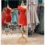 รหัส ชุดราตรีสั้น :PF140 ชุดราตรีสั้นผ้าซาติน เดรสออกงานไหลเฉียง ชุดไปงานแต่งงานสีแดง ชุดแซกงานสวยมาก แบบประดับโบว์เพิ่มความน่ารัก thumbnail 1