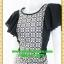 2543เสื้อผ้าคนอ้วน เสื้อผ้าแฟชั่นออกงาน คอกลมแต่งลายกราฟฟิค เล่นดีไซน์ระบายแขนหรูด้วยความลายของผ้าและสไตล์หวานที่พร้อมออกงาน thumbnail 3