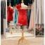 รหัส ชุดราตรีสั้น : BB030 ชุดราตรีสั้น เดรสออกงานไหล่เฉียง ชุดไปงานแต่งงานสีแดง ชุดแซกงานสวยมาก แบบประดับดอกไม้เพิ่มความน่ารัก thumbnail 2
