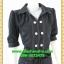 2679ชุดทํางาน เสื้อผ้าคนอ้วนชุดปกเชิ๊ตสุภาพผ้าโอซาก้า แขนยาวตุ๊กตา โชว์ด้ายขาวตัดทั้งชุดเพิ่มลวดลายเสริมด้วยกระดุมสวยงาม thumbnail 2