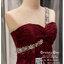 รหัส ชุดราตรี :PF063 ชุดแซก ชุดราตรียาว หรู สีไวน์แดง ไหล่เฉียง สวยเก๋มากๆ เหมาะสำหรับงานแต่งงาน งานกลางคืน กาล่าดินเนอร์ thumbnail 3