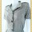 1997ชุดเดรสทำงาน เสื้อผ้าคนอ้วนกระเป๋าล้วง กระดุมหน้ารูปแบบเรียบง่าย แขนสั้นธรรมดา แอบเก๋ด้วยสม็อกข้างลำตัวด้านซ้ายและขวา thumbnail 3