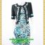 3084เสื้อผ้าคนอ้วน เสื้อผ้าแฟชั่นชุดทำงานลายเสือคอกลมตัวในมีตัวนอกคลุมทับลายเขียวสไตล์หวานเรียบร้อยสุภาพเป็นทางการ thumbnail 1