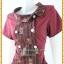 3186เสื้อผ้าคนอ้วนผ้าไทยสีเลือดหมูทอลายด้านหน้าคอบัวเอียงข้างมีกระดุมแต่งพื้นข้างลำตัวกระเป๋าล้วงเอว สไตล์หวานเรียบร้อย thumbnail 3