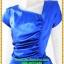 2877เสื้อผ้าคนอ้วน ชุดทำงานสีน้ำเงินสุดหรูคอวีจับเดรฟสุดปราณีตสวยงามหรูหรา น่าค้นหาเป็นที่สุด สวยและมั่นใจสไตล์ออกงาน thumbnail 2