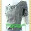 2411ชุดเดรสทำงาน เสื้อผ้าคนอ้วน ผ้าแก้วโปร่งโชว์หรูต้นแขนและอก ทรงสอบต่อเอวต่ำด้วยผ้าชีฟองเบาพริ้วสไตล์หรูเซ็กซี่สะดุดตาด้วยสีดำพรางรูปร่าง thumbnail 3