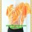 1757ชุดแซกทำงาน เสื้อผ้าคนอ้วน ชุดลายผ้าอินโดเนื้อนิ่มใส่สบายคอจีบระบายรอบกระดุมเกี่ยวมุกด้านหน้าแต่งโบผูกเก๋ๆใต้คอสไตล์สาวหวานเรียบร้อย thumbnail 3