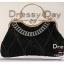 กระเป๋าออกงาน TE012: กระเป๋าออกงานพร้อมส่ง กระเป๋าคลัช วินเทจ สีดำ แบบมีหูหิ้ว ดีเทลคริสตอล มาพร้อมงานปักสุดหรู ราคาถูกกว่าห้าง ถือออกงาน หรือ สะพายออกงาน สวย หรู ดูดีเริ่ดมากค่ะ thumbnail 4