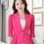 เสื้อสูทผู้หญิงสีชมพูแต่งแขนและชายระบายชีฟองสไตล์สวยหรูมี 5 ไซส S/M/L/XL/2XL รหัส 1804 thumbnail 1
