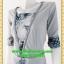 2406ชุดทํางาน เสื้อผ้าคนอ้วนเทาลายวินเทจตัดต่อผ้าพื้นและลายคั่นด้วยกุ้นสี แขนยาว สไตล์เนี๊ยบสุดหรูมีรสนิยมเลือกชุดทำงาน thumbnail 3
