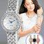 นาฬิกาข้อมือผู้หญิง หน้าปัดแต่งพลอยสายสแตนเลส-หน้าปัด 4 สี thumbnail 1