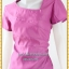 3133เสื้อผ้าคนอ้วน ชุดออกงานสีกลีบบัวผ้าซาติน โชว์ลวดลายด้วยการต่อผ้า10ชิ้นชุดทรงตรง สวมใส่พอดีตัว คลุมยาวมีซับใน thumbnail 3