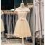 รหัส ชุดราตรีสั้น :BB045 มีชุดราตรีสวย สีครีม ชุดไปงานแต่งสั้น เหมาะใส่งานหมั้น งานเช้า หรู พร้อมส่งเยอะสุดในไทย เนื้อผ้าพรีเมี่ยม คัตติ้งเนี๊ยบๆ คอบัว thumbnail 1