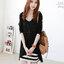 ชุดเดรสแฟชั่นเกาหลีน่ารัก 2ชิ้น ชีฟอง+cotton รหัส 1023 thumbnail 1
