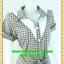 1980ชุดเดรสทำงาน เสื้อผ้าคนอ้วนตาสก็อตแต่งปกขาวและใต้คอสไตล์ทรงแฟชั่นทำงานสุภาพ thumbnail 2