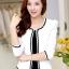 เสื้อสูทผู้หญิงสีขาวใส่ทำงาน สไตล์เรียบหรู 5 size S/M/L/XL/2XL รหัส 1390 thumbnail 1