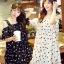 ชุดเดรสแฟชั่นกึ่งเสื้อ ผ้าชีฟองสวยหวานสไตล์เกาหลี มี 2 สี(ดำ/ขาว)-1033 thumbnail 1