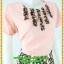 3108ชุดทำงานคนอ้วนสีชมพู คอกลมแต่งจีบด้านหน้าโดดเด่นด้วยกระโปรงลายดอกแยก10ชิ้นทรงเอสไตล์หวานสุภาพเรียบร้อย thumbnail 2