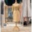 รหัส ชุดราตรี : PFS047 ชุดแซกมีแขน ชุดราตรีสั้นหรูสีทอง สวย สง่า ดูดีแบบเจ้าหญิง ใส่เป็นชุดงานเช้า ชุดไปงานแต่งงาน งานกาล่าดินเนอร์ งานเลี้ยง งานพรอม งานรับกระบี่ thumbnail 4