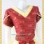 3163เสื้อผ้าคนอ้วนผ้าไทยเนื้อทอ2หน้าซับผ้ากาวอย่างดีสีแดงสลับเหลืองแขนกลีบบัวแต่งโบเอวกระโปรงมีระบาย thumbnail 2