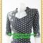 2750ชุดทํางาน เสื้อผ้าคนอ้วนสีดำลายดอกสวยลุคหรูสง่างามคอปีนโค้งรูปหัวใจโชว์เครื่องประดับสไตล์ออกงานเรียบหรู thumbnail 3