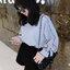 เสื้อแฟชั่นผู้หญิงสีเทาแต่งสายผูกโบว์ที่ข้อมือเก๋ๆ สไตล์เกาหลี รหัส 1818 thumbnail 1