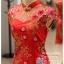 รหัส ชุดกี่เพ้า :KPS031 ชุดกี่เพ้าพร้อมส่ง มีชุดกี่เพ้าคนอ้วน แบบสั้น สีแดง ปักลูกไม้ คัตติ้งเป๊ะมาก ใส่ออกงาน ไปงานแต่งงาน ใส่เป็นชุดพิธีกร ชุดเพื่อนเจ้าสาว ชุดถ่ายพรีเวดดิ้ง ชุดยกน้ำชา หรือ ใส่ ชุดกี่เพ้าแต่งงาน สวยมากๆ ค่ะ thumbnail 3