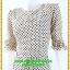 3086ชุดเดรสทำงาน เสื้อผ้าคนอ้วนลายจุดสีครีมรับลมร้อน สไตล์หวานคอกลมแขนยาวตัดต่อบริเวณอกโค้งรับเนินอก สไตล์สาวหวานแฟชั่นเกาหลี thumbnail 3