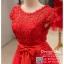 รหัส ชุดราตรีสั้น : BB033 ชุดราตรีสั้น เดรสออกงาน ชุดไปงานแต่งงานสีแดง ชุดแซกงานสวยมาก ประดับโบว์ที่เอวเพิ่มความน่ารัก thumbnail 3