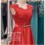 รหัส ชุดราตรียาว : PF002 ชุดราตรียาว เดรสออกงาน ชุดไปงานแต่งงาน ชุดแซก สีแดง สวยด้วยลูกไม้ด้านบนและเรียบหรูด้วยผ้าซาติน เหมาะสำหรับงานแต่งงาน งานกลางคืน กาล่าดินเนอร์ thumbnail 3