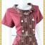 3186เสื้อผ้าคนอ้วนผ้าไทยสีเลือดหมูทอลายด้านหน้าคอบัวเอียงข้างมีกระดุมแต่งพื้นข้างลำตัวกระเป๋าล้วงเอว สไตล์หวานเรียบร้อย thumbnail 2