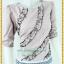 3154เสื้อผ้าคนอ้วน ชุดทำงานคอกลมแขนยาวเอวต่ำกระโปรงลายขวางสไตล์หวานเรียบร้อย สุภาพ thumbnail 2