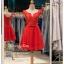 รหัส ชุดราตรีสั้น :BB046 มีชุดราตรีสวย สีแดง ชุดไปงานแต่งสั้น เหมาะใส่งานหมั้น งานเช้า หรู พร้อมส่งเยอะสุดในไทย เนื้อผ้าพรีเมี่ยม คัตติ้งเนี๊ยบๆ thumbnail 1