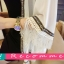 ผ้าคลุมไหล่แฟชั่นชายเสื้อแต่งพู่ สวย เก๋ สไตลเกาหลี-1541-สีขาว thumbnail 2