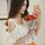 เสื้อแฟชั่น สายเดี่ยวแต่งอกระบายสวยหวานสไตล์เกาหลี- 1580-สีขาว thumbnail 1