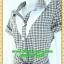 1980ชุดเดรสทำงาน เสื้อผ้าคนอ้วนตาสก็อตแต่งปกขาวและใต้คอสไตล์ทรงแฟชั่นทำงานสุภาพ thumbnail 3
