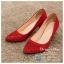 รหัส รองเท้าไปงาน : RR005 รองเท้าเจ้าสาวสีเเดง พร้อมส่ง ตกแต่งกริตเตอร์ สวยสง่าดูดีแบบเจ้าหญิง ใส่เป็นรองเท้าคู่กับชุดเจ้าสาว ชุดแต่งงาน ชุดงานหมั้น หรือ ใส่เป็นรองเท้าออกงาน กลางวัน กลางคืน สวยสง่าดูดีมากคะ ราคาถูกกว่าห้างเยอะ thumbnail 2