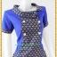 3191เสื้อผ้าคนอ้วนผ้าไทยสีน้ำเงินทอลายด้านหน้าคอบัวเอียงข้างมีกระดุมแต่งพื้นข้างลำตัวกระเป๋าล้วงเอว สไตล์หวานเรียบร้อย thumbnail 2