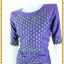 3185เสื้อผ้าคนอ้วนผ้าไทยสีม่วงคอกลมแขนยาวแต่งลายสลับพื้นปรับสรีระเพิ่มส่วนเว้าโค้งเติมความมั่นใจ สไตล์หรูหรา สง่างาม thumbnail 3
