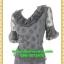 2675ชุดทํางาน เสื้อผ้าคนอ้วนผ้าตาข่ายพิมพ์ลายโบสีดำข้างลำตัวโดดเด่นสะดุดตาแขนทรงระฆังคอกลมระบายรอบ สวมใส่สบายหรูหราอลังการเลือกใส่เป็นชุดออกงานเลิศหรู thumbnail 3