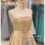 รหัส ชุดราตรีสั้น :PF006 ชุดราตรีสั้น เดรสออกงาน ชุดไปงานแต่งงาน ชุดแซก สีทอง เกาะอก สวยหรูประดับมุก เหมาะสำหรับงานแต่งงาน งานกลางคืน กาล่าดินเนอร์ thumbnail 3