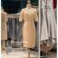 รหัส ชุดราตรี : PFS038 ชุดแซกผ้าลูกไม้งานสวยตกแต่งกริตเตอร์ ชุดราตรีสั้นหรูสีทอง สวย สง่า ดูดีแบบเจ้าหญิง ใส่เป็นชุดไปงานแต่งงาน งานกาล่าดินเนอร์ งานเลี้ยง งานพรอม งานรับกระบี่ มีแขน thumbnail 2
