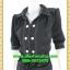 2679ชุดทํางาน เสื้อผ้าคนอ้วนชุดปกเชิ๊ตสุภาพผ้าโอซาก้า แขนยาวตุ๊กตา โชว์ด้ายขาวตัดทั้งชุดเพิ่มลวดลายเสริมด้วยกระดุมสวยงาม thumbnail 3
