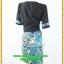 3084เสื้อผ้าคนอ้วน เสื้อผ้าแฟชั่นชุดทำงานลายเสือคอกลมตัวในมีตัวนอกคลุมทับลายเขียวสไตล์หวานเรียบร้อยสุภาพเป็นทางการ thumbnail 4