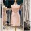รหัส ชุดราตรีคนอ้วน :PFS028 ชุดแซกผ้าลูกไม้งานสวยตกแต่งลูกไม้กริตเตอร์ ชุดราตรีสั้นคนอ้วนหรูสีชมพู สวย สง่า ดูดีแบบเจ้าหญิง ใส่เป็นชุดไปงานแต่งงาน งานกาล่าดินเนอร์ งานเลี้ยง งานพรอม งานรับกระบี่ thumbnail 4
