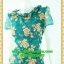 2741ชุดเดรสทำงาน เสื้อผ้าคนอ้วนคอจีบทวิสต์รอบคอ ลายดอกกุหลาบสไตล์หวานเรียบง่ายดูภูมิฐาน เพิ่มระบายชายเอวแต่งลายจุดด้วยเชิงผ้า thumbnail 3