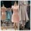 รหัส ชุดราตรีสั้น :PF140-4 ชุดราตรีสั้นผ้าซาติน เดรสออกงานไหลเฉียง ชุดไปงานแต่งงานสีชมพู ชุดแซกงานสวยมาก แบบประดับโบว์เพิ่มความน่ารัก thumbnail 4