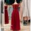 รหัส ชุดราตรียาว : KK002 ชุดแซก ชุดราตรียาวสีแดง ด้านบนเป็นผ้าลูกไม้สวยหรู ที่เอวมีคริสตัลแวววาว thumbnail 2