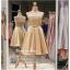 รหัส ชุดราตรีสั้น :PF006 ชุดราตรีสั้น เดรสออกงาน ชุดไปงานแต่งงาน ชุดแซก สีทอง เกาะอก สวยหรูประดับมุก เหมาะสำหรับงานแต่งงาน งานกลางคืน กาล่าดินเนอร์ thumbnail 2