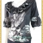 3277 ชุดเซ็ทคู่กัน เสื้อแยกชิ้นกับกระโปรง ชีฟอง ขาว ดำ เสื้อคู่กระโปรงขาวดำแต่งปกระบายแขนบอลลูนระบายชายเอว thumbnail 3